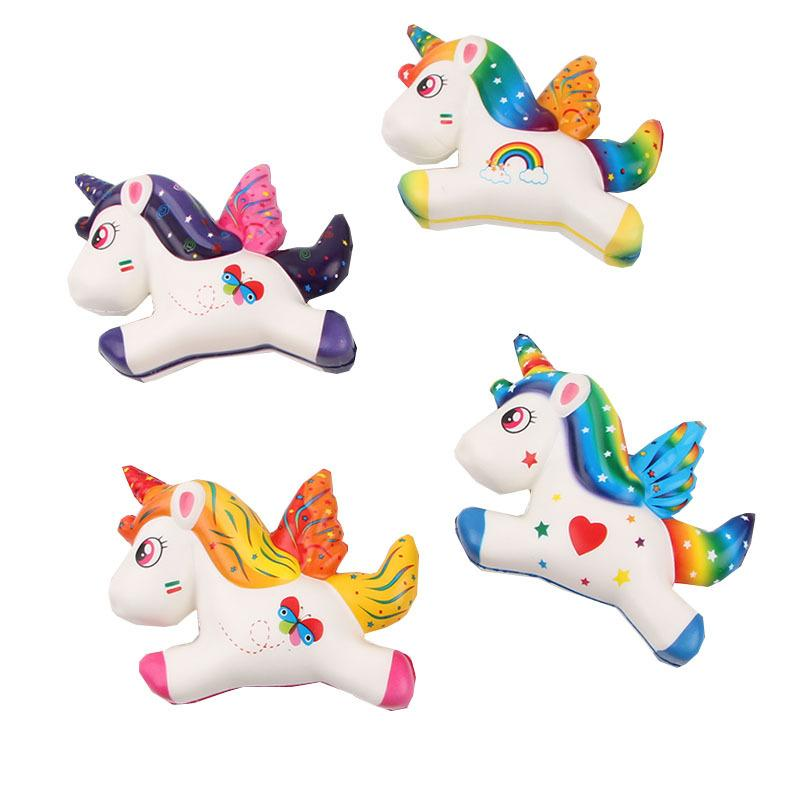 Silly Squishy - Color printing color pegasus unicorn pu simulation Squishy