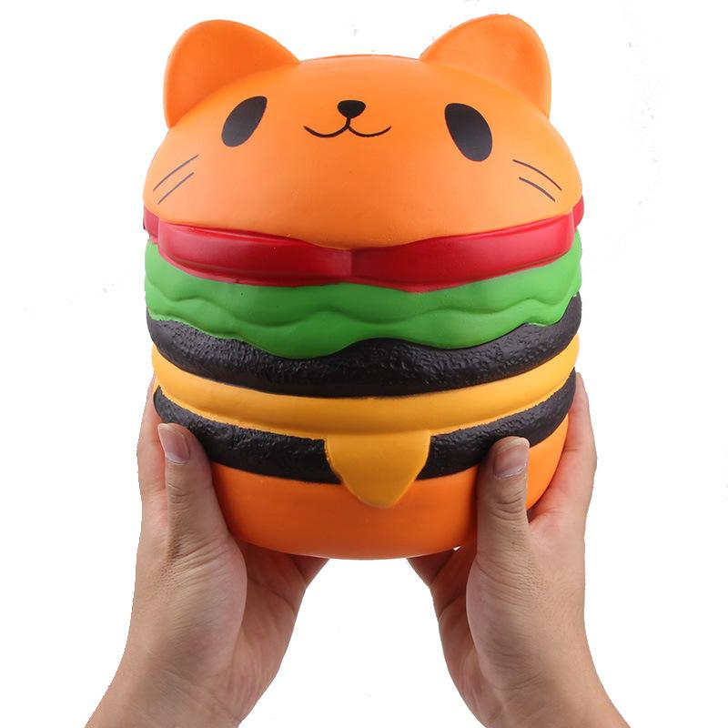 Silly Squishy - PU imitation giant hamburger cat Squishy