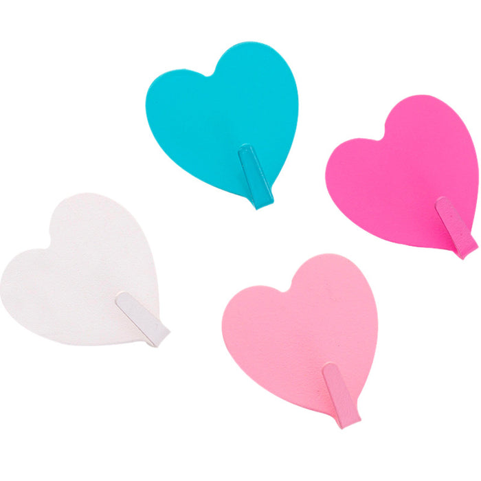 Kawii Japanese Korean Girl heart pink love dormitory heart shaped viscose decoration strong hook