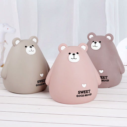 Meng Bear Cartoon Night Light Home Accessories Money Pot Pendant Creative Desktop Decoration Boutique gift Pen Holder