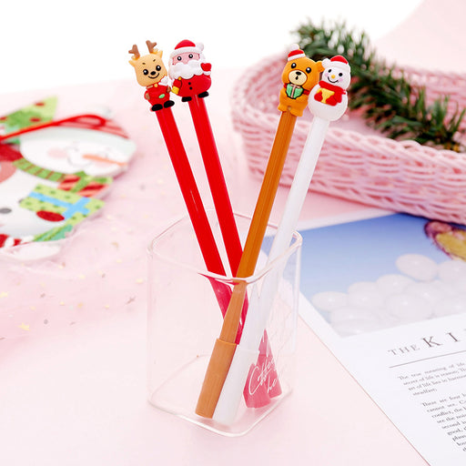 Creative cartoon Santa series gel pen student office signature pen exam pen learning stationery