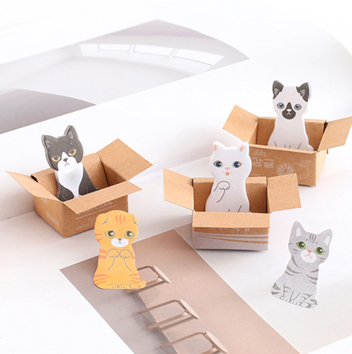 Kawaii  Japanese  Korean  Carton cute carton cat small sticky notes sticky note stickers | N times stickers | sticky notes
