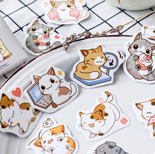 Kawaii  Japanese  Korean Little Chibi Cat Stickers
