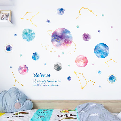 Starry Planet Bedroom Decoration Wall Sticker