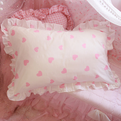 Kawaii  Japanese  Korean  Love Lotus Leaf Lace Pillowcase Pillow
