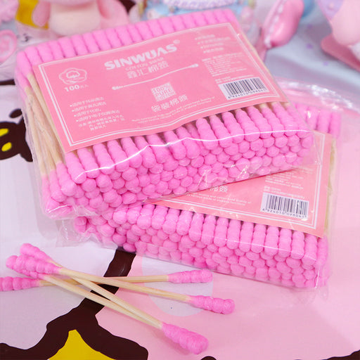 Kawaii  Japanese  Korean  Disposable makeup remover cotton swabs
