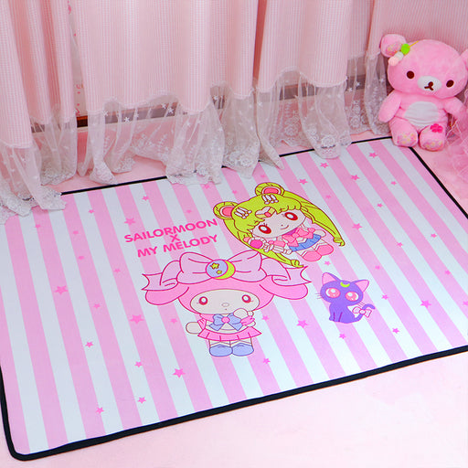 Cartoon Sailor Moon mat baby crawling mat ins wind pink dorm bedside big carpet