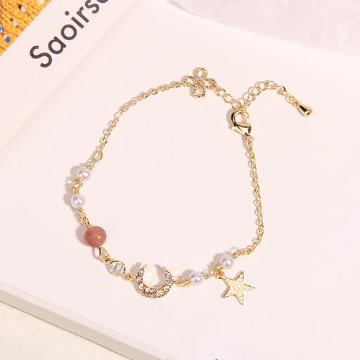 Kawaii Japanese Korean -Simple personality pearl bracelet / girlfriends honeymoon crystal jewelry gift