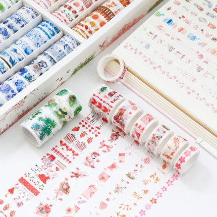 Kawaii  Japanese  Korean  -Girls birthday gift hand book decorative sticker tape spree