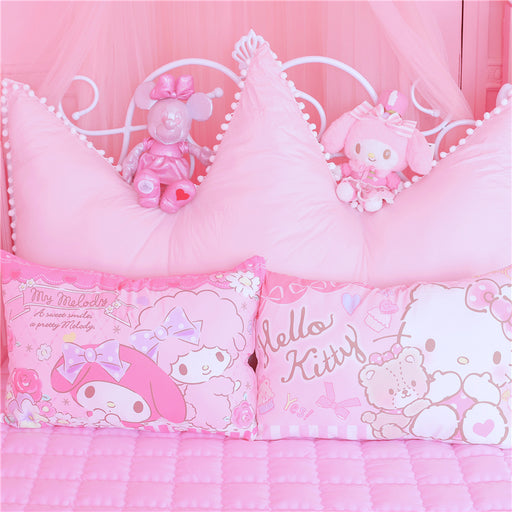 Pink Cute K*T Cat Melody Cartoon Pillowcase
