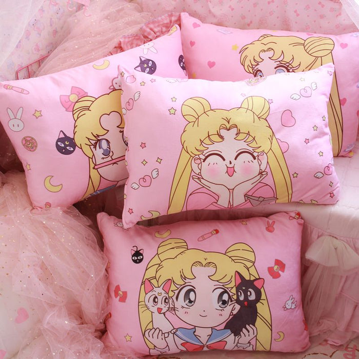 Kawaii  Japanese  Korean  Beautiful girl pillowcase