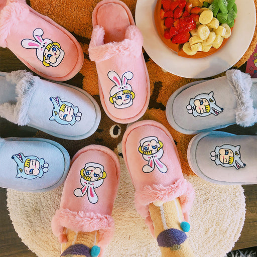 Aesthetic   Japanese Girly Heart Winter Plush Shoes
