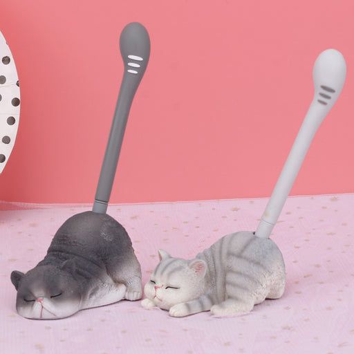 Kawaii Japanese Korean ins lazy meow pen holder pens birthday gift pen