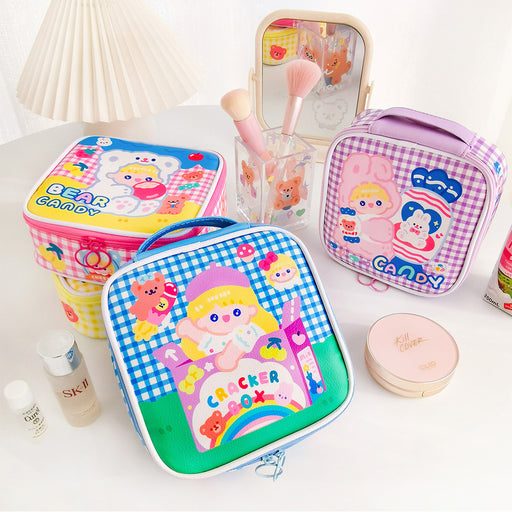 Aesthetic Milk Joy Square Candy Girl Cosmetic Bag