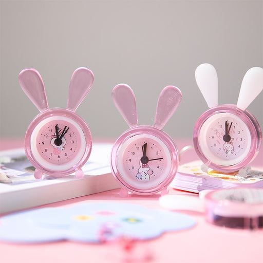Kawaii Japanese Koreanins girl heart rabbit bedside decoration alarm clock