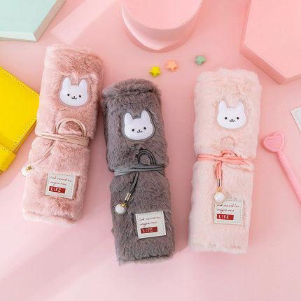 Kawaii  Japanese  Korean  - Cartoon plush pencil case