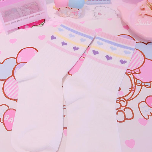 Pastel Strawberry Fruit Socks