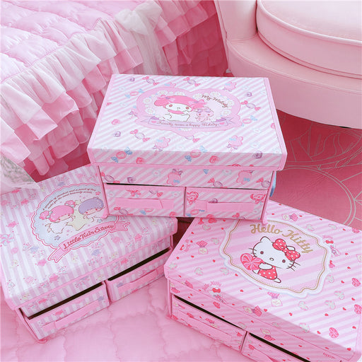 Kawaii  Japanese  Korean -Home non-woven underwear drawer storage and finishing box