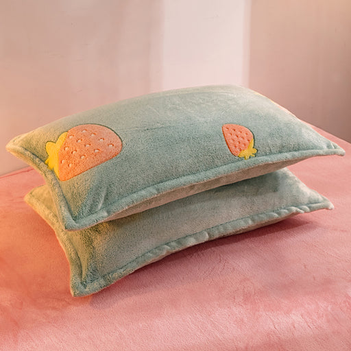 A Pair Of Unicorn Milk Velvet Pillowcases