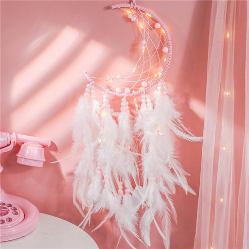 Kawaii  Japanese  Korean Girl Heart Unicorn Feather Wind Chime Hanging Pendant