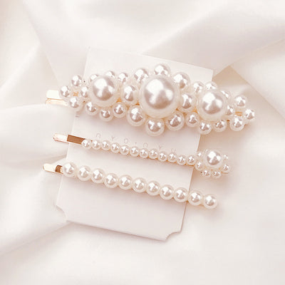 Kawaii  Japanese  Korean  -Pearl Girl Sweet Hairpin/Hairpin/Headgear Clip/Duckbill Clip