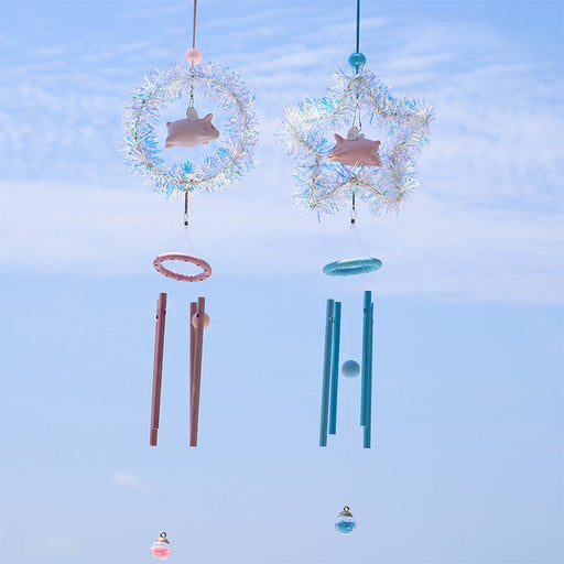 Kawaii  Japanese  Korean   Little flying pig wind chime pendant
