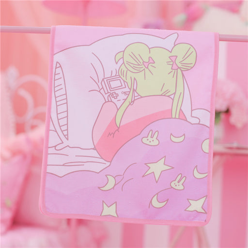 Kawaii  Japanese  Korean  -Soft girl beautiful girl cute home soft absorbent towel