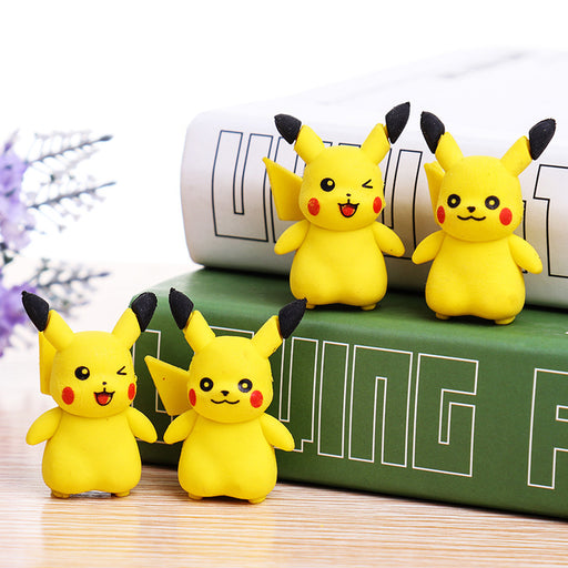 Kawaii  Japanese  Korean  cartoon pikachu eraser