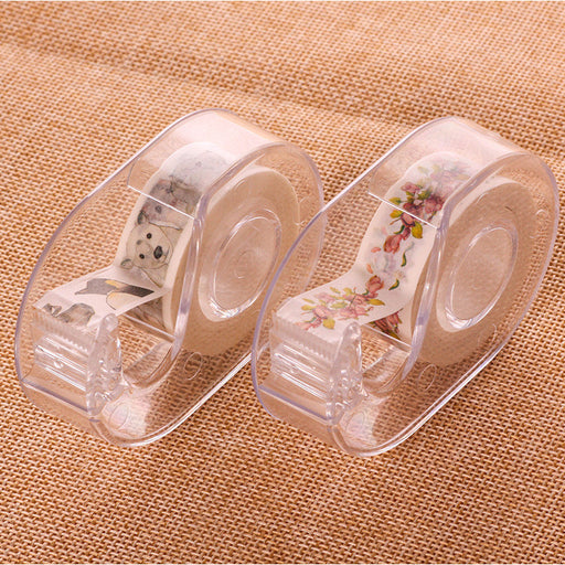 Kawaii Japanese Korean Mini small portable hand account tape cutter / special adhesive tape  Dispenser