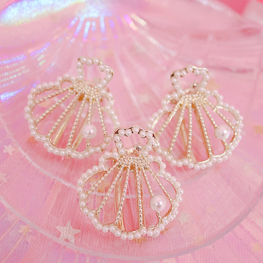 Kawaii Japanese Korean  Cute pearl shell side clip