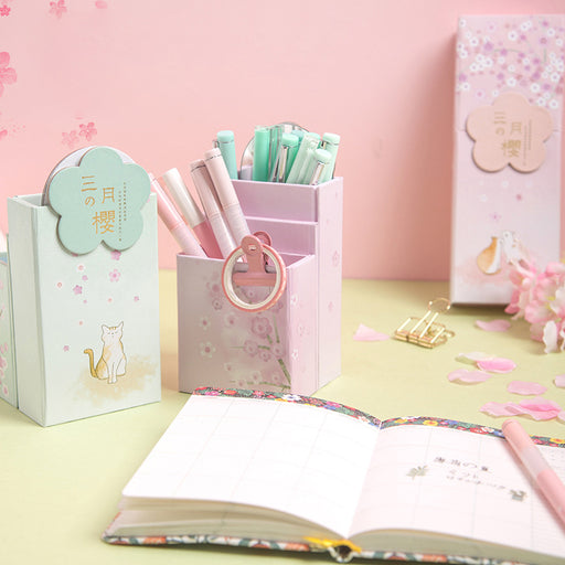 Kawaii  Japanese  Korean  Cute multifunctional pencil case/deformed pen holder folding pencil case