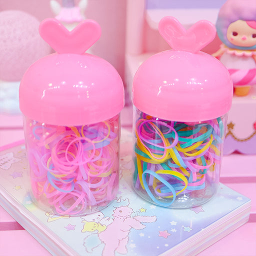 Kawaii  Japanese  Korean  -Cute jelly color/candy color disposable hair rope/rubber banded /color head rope