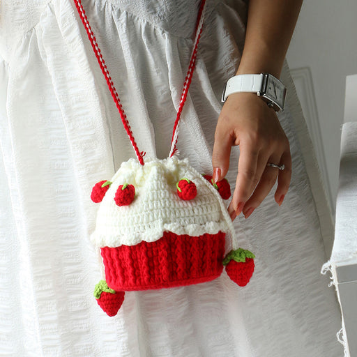 Knit Strawberry Aesthetic Bag -DIY Kits