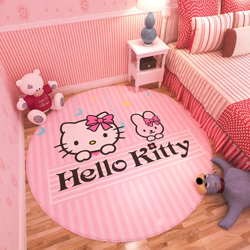 Cartoon Anime Princess Girl Pink Bedroom Carpet