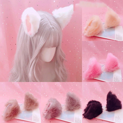 Japanese Plush Cat Rabbit Ear Hairpin