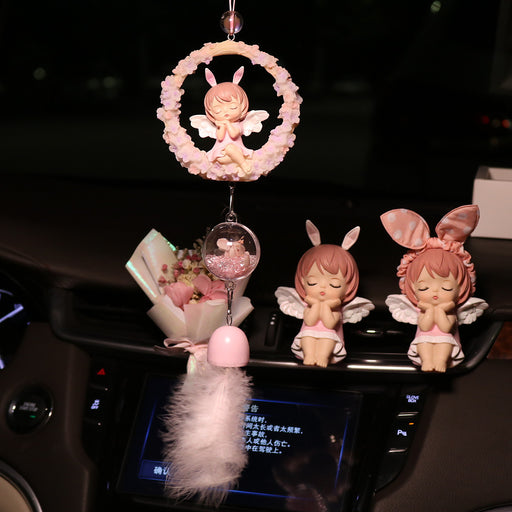 Lovely Annie Angel Wind Chime Rearview Mirror Pendant