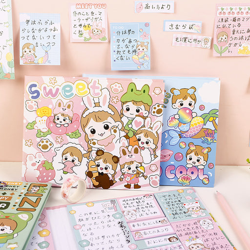 Aesthetic Cardlover Chestnut Cute Pet Paradise Combination Sticky Note