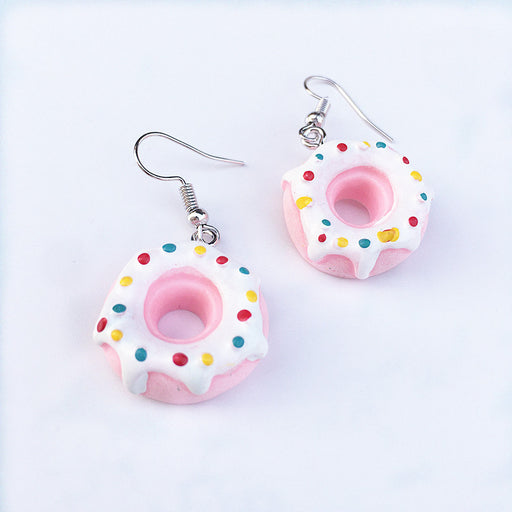 Kawaii Japanese Korean Donut Earrings