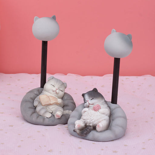 Kawaii Japanese Korean Graduation meow star night light table lamp birthday gift room layout decoration small lamp