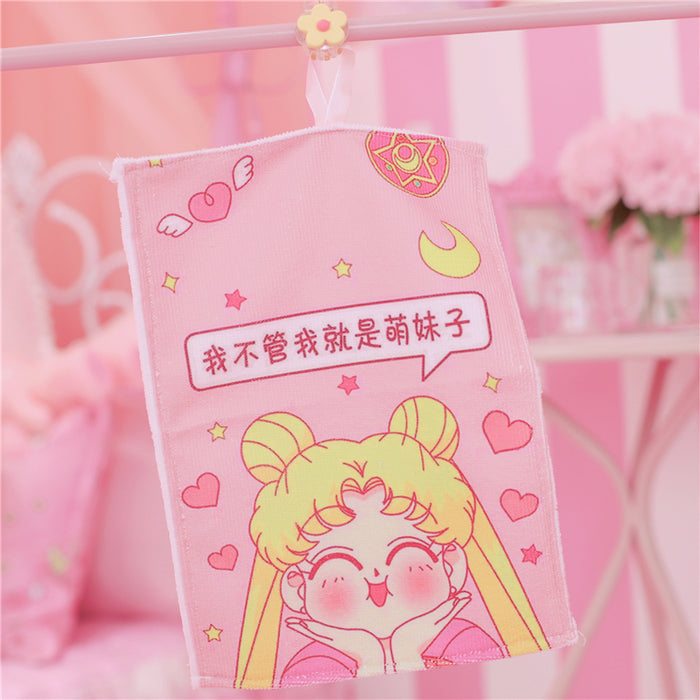 Kawaii  Japanese  Korean  -Soft girl beautiful girl cotton small towel soft absorbent face wash towel