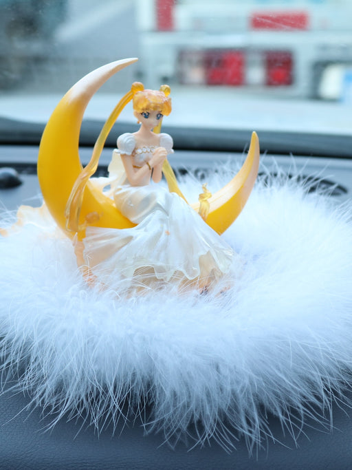 Lovely Moon Angel Center Console Car Decoration