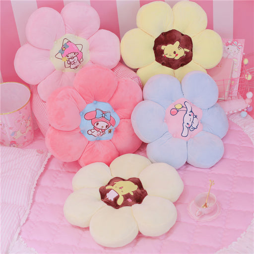 Kawaii  Japanese  Korean Cartoon cute flowers thickened stool cushion