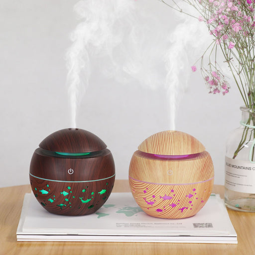 Aesthetic Yi Xuan  Wood Grain Hollow Sphere Colorful Translucent Dolphin Mushroom Humidifier