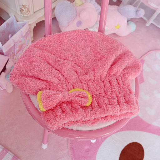 Kawaii  Japanese  Korean  -Dry hair cap/bowk towel cap