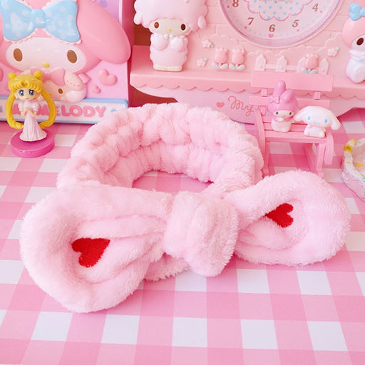 Kawaii  Japanese  Korean Rabbit ear wash face bundle hair towel headband