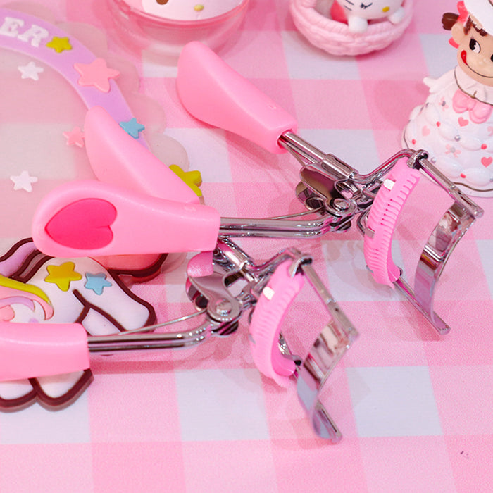 Kawaii  Japanese  Korean-Fan-shaped wide-angle comb combing eyelash curler