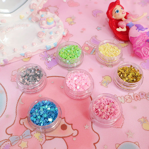 Kawaii  Japanese  Korean Eye makeup DIY sequin anime makeup
