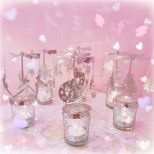 Kawaii  Japanese  Korean  Luna cat windmill girl heart rotating romantic candlestick Christmas gift