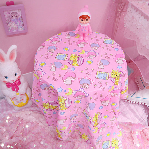 Japanese cartoon cute Gemini Melody lace tablecloth / table mat / picnic mat