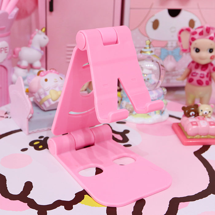Kawaii  Japanese  Korean  -Pink Girl Heart Double Folding Phone Stand/Desktop Universal/Lazy Tablet Stand